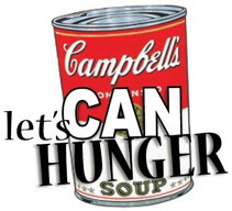 Canned food drives are easy and make a difference.
