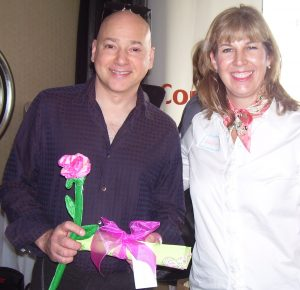 Evan Handler and Leslie Smith